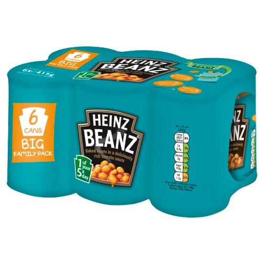 Heinz Baked Beans 6pk (6 x 415g)