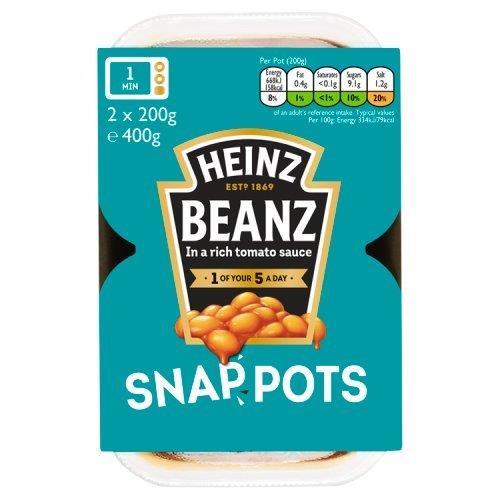 Heinz Snap Pots Duo Baked Beans Snap Pots 2pk (2 x 200g)