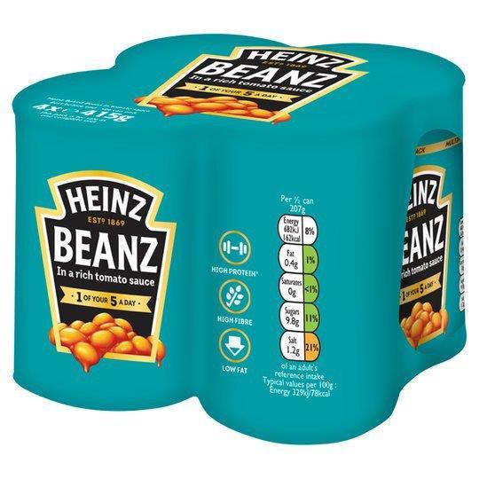 Heinz Baked Beans Vegan NAS 4pk (4 x 415g)