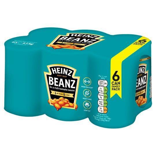 Heinz Baked Beans Vegan NAS 6pk (4 x 415g)