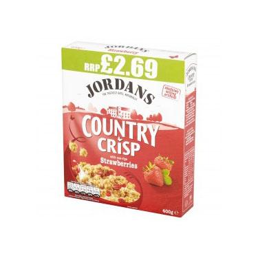 Jordans Country Crisp Strawberry 400g PM £2.99