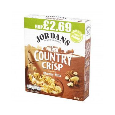 Jordans Country Crisp Chunky Nut 400g PM £2.99