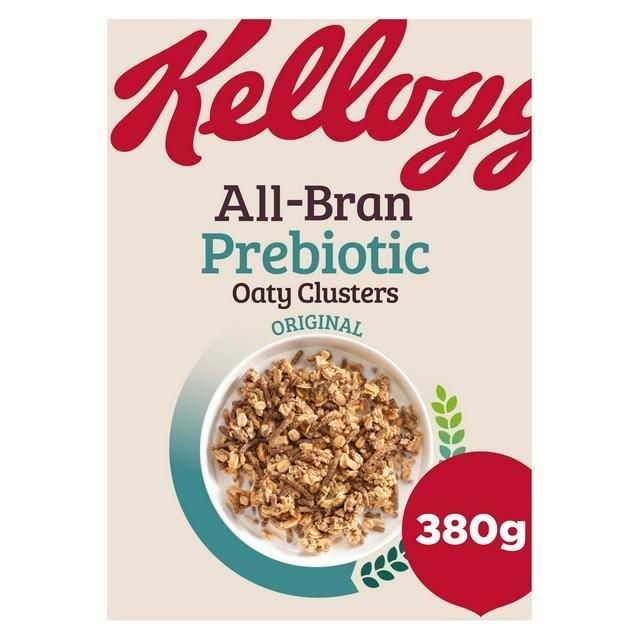 Kellogg's All-Bran Prebiotic Oaty Clusters Original 380g NEW