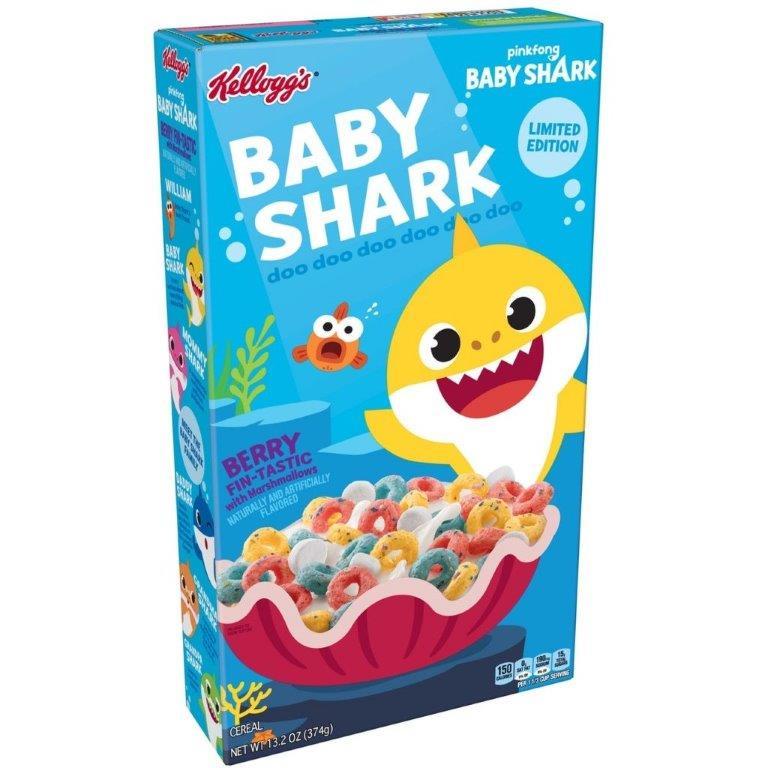 Kellogg's Baby Shark 350g NEW