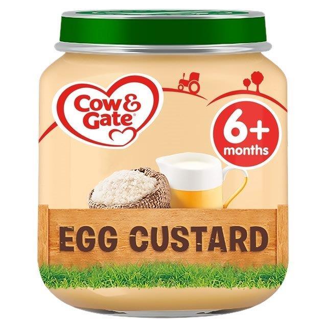 Cow & Gate (6+ Months) Egg Custard Jar 125g