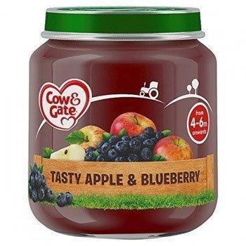 Cow & Gate (4 - 6 Months) Tasty Apple & Blueberry Jar 125g