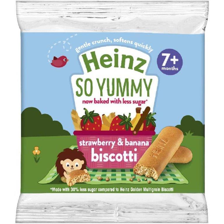 Heinz Biscotti Reduced Sugar Strawberry & Banana 60g