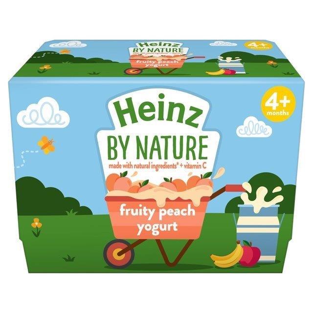 Heinz Pouch 4m+ Yoghurt Peach 4pk (4 x 100g)