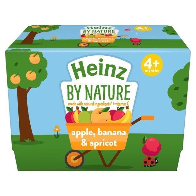 Heinz Pouch 4m+ Yoghurt Apple, Banana & Apricot 4pk (4 x 100g)