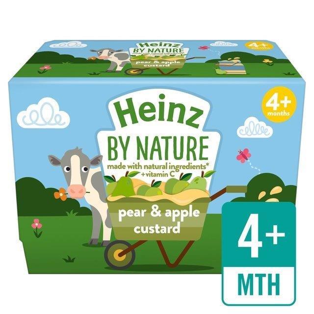 Heinz Custard Pear & Apple 4pk (4 x 100g)