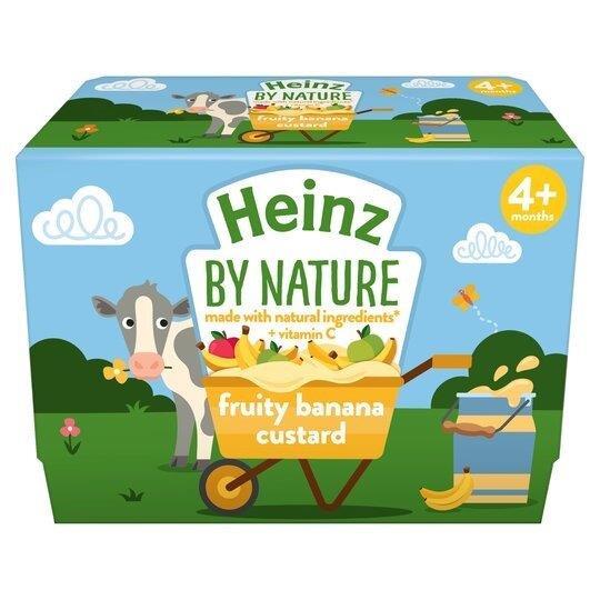 Heinz Custard Banana 4pk (4 x 100g)