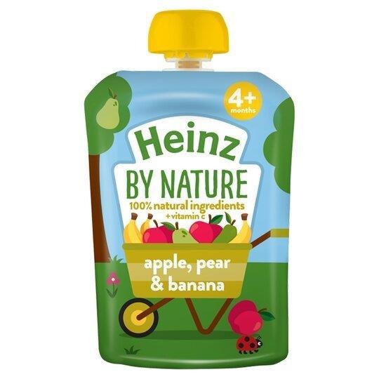 Heinz Pouch 4m+ Apple, Pear & Banana 100g