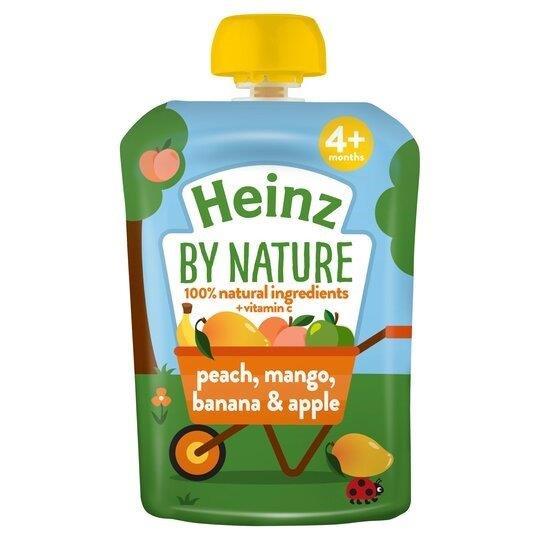 Heinz Pouch 4m+ Peach, Mango & Banana 100g