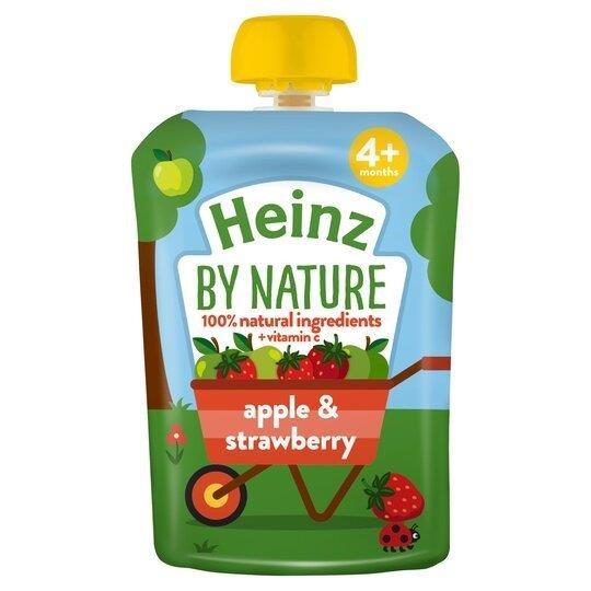Heinz Pouch 4m+ Apple & Strawberry 100g
