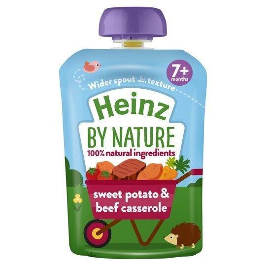 Heinz Pouch 7m+ Sweet Potato & Beef Cassrole 130g