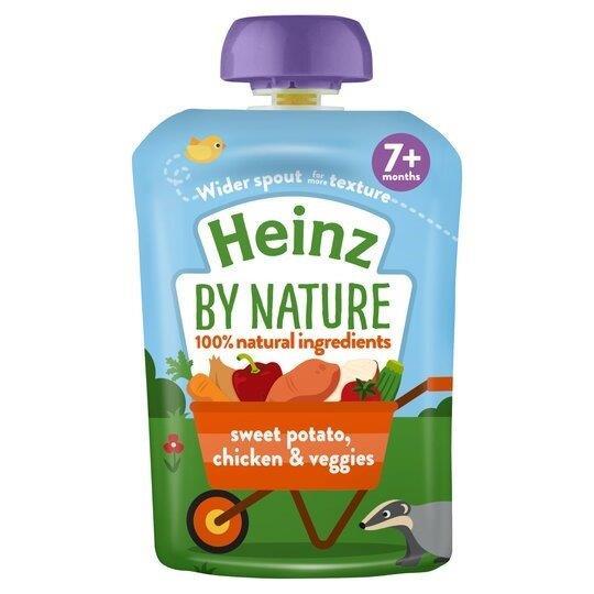 Heinz Pouch 7m+ Sweet Potato, Chicken & Veggies 130g