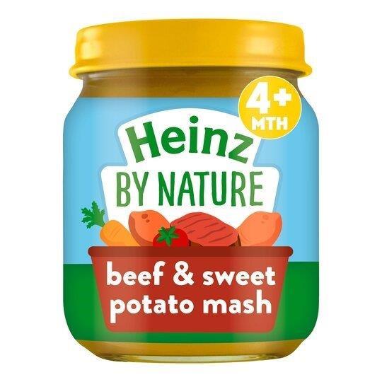 Heinz Jar 4m+ Beef Sweet Potato Mash 120g