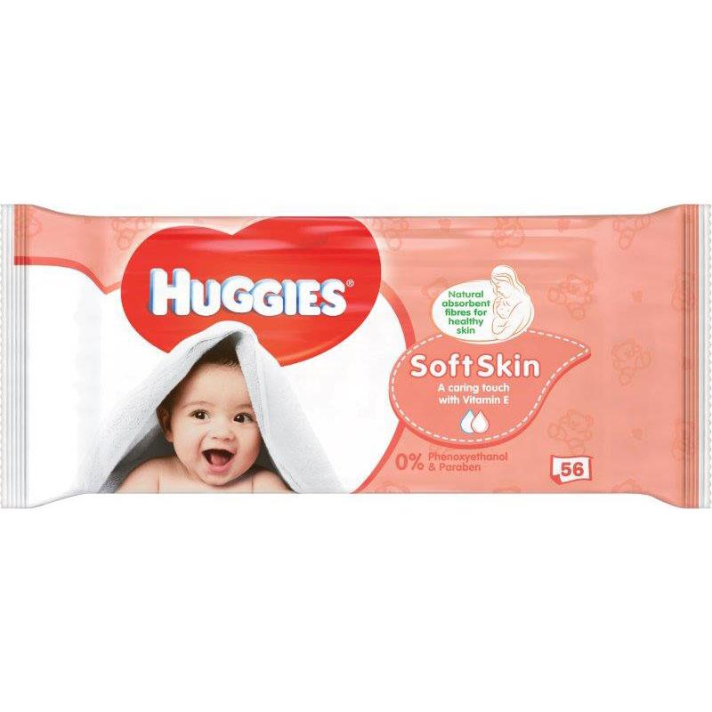 Huggies Wipes Soft Skin 56's