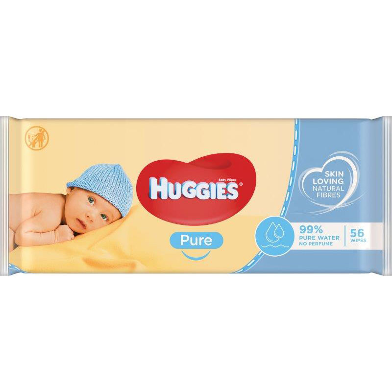 Huggies Wipes Pure 56's