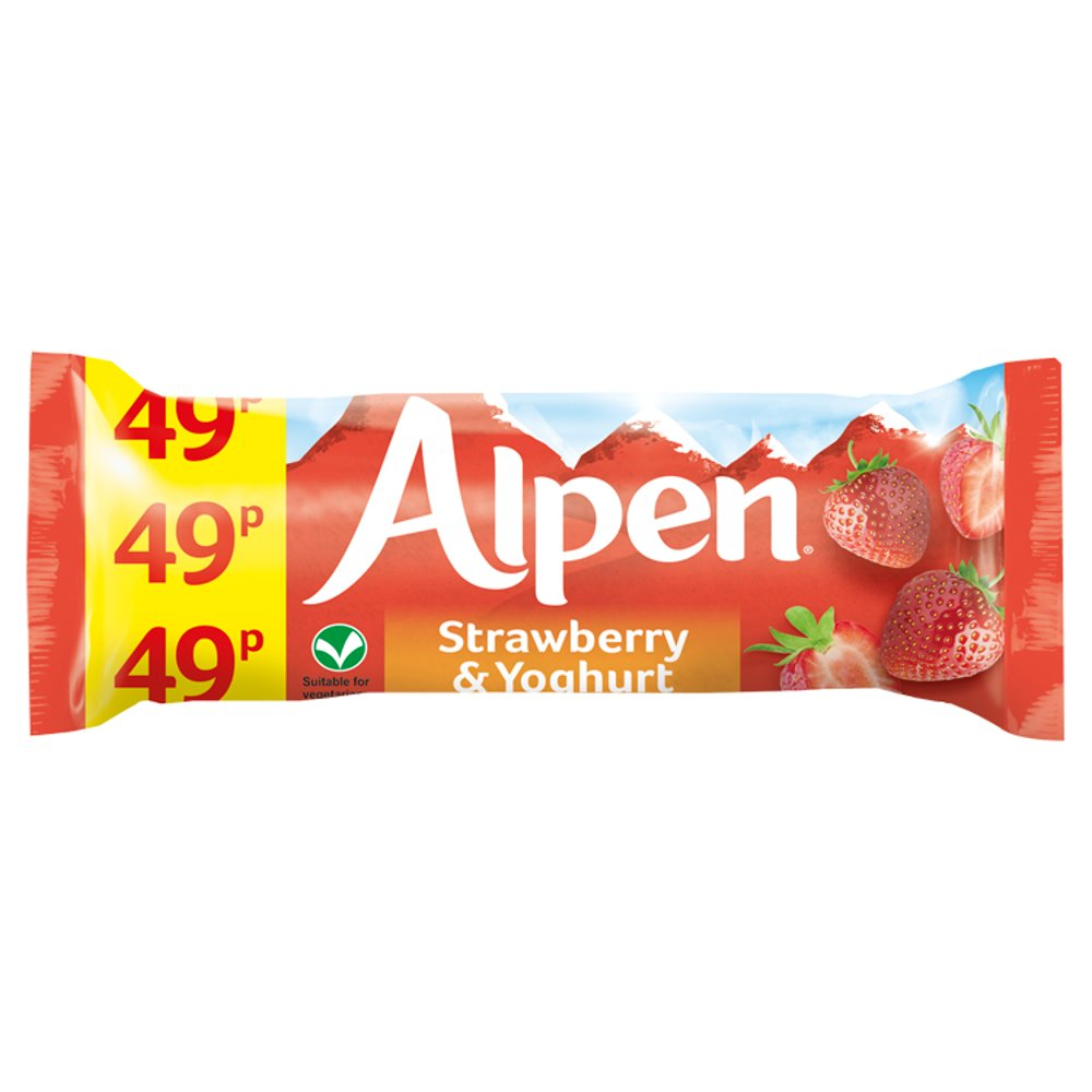 Alpen Bar Std Strawberry and Yoghurt 29g PM 49p