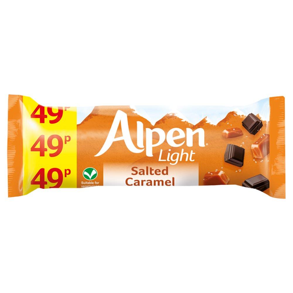 Alpen Bar Std Alpen Light Salted Caramel 19g PM 49p