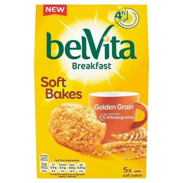Belvita Soft Bakes Golden Grain 5's 250g