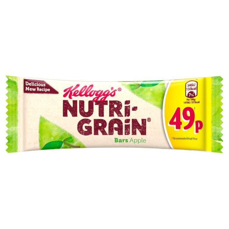Kellogg's Nutri-Grain Soft & Fruity Apple 37g PM 59p