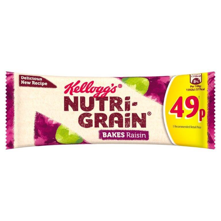Kellogg's Nutri-Grain Elevenses Raisin Bake 45g PM 59p