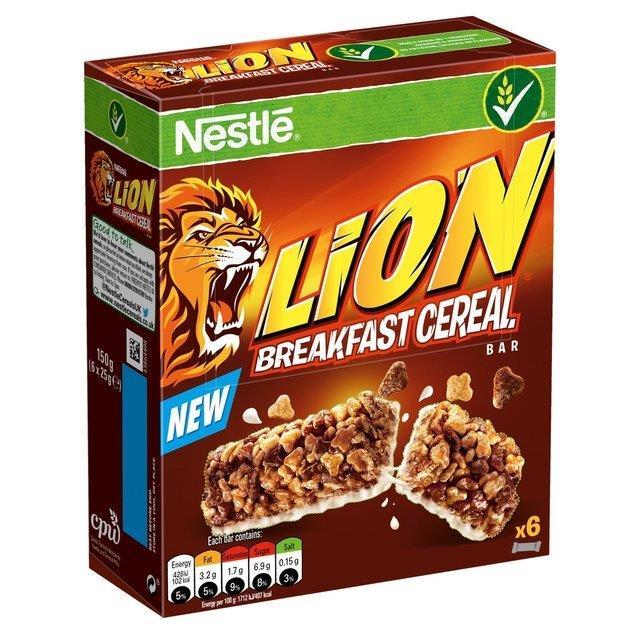 Nestle Cereal Bar Lion 6pk (6 x 25g)