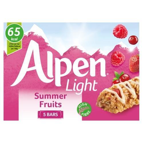 Alpen Bar 5pk Light Summer Fruit (5 x 19g)
