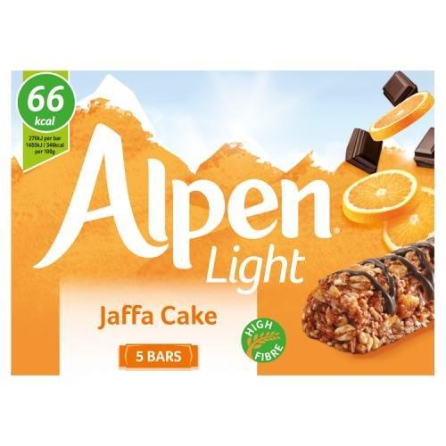 Alpen Bar 5pk Light Jaffa (5 x 19g)
