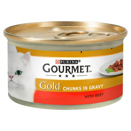 Gourmet Gold Chunkys In Gracy With Beef 85g
