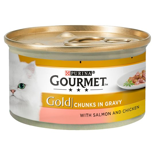 Gourmet Gold Chunkys In Gravy With Salmon & Chicken 85g