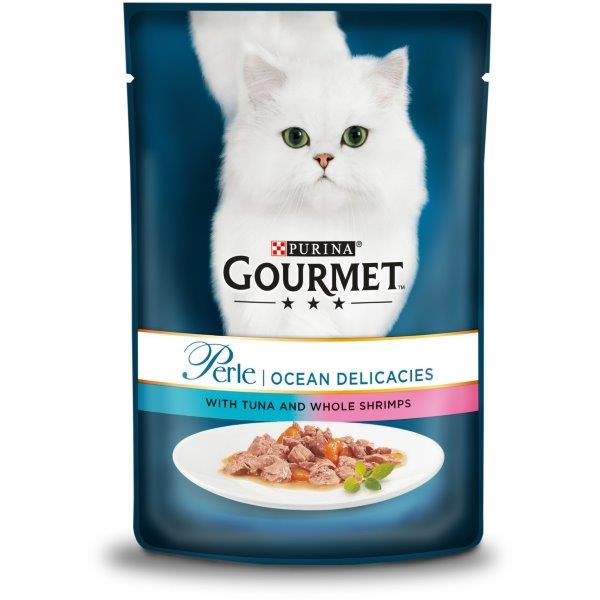 Gourmet Perle Tuna & Shrimp Pouch 85g