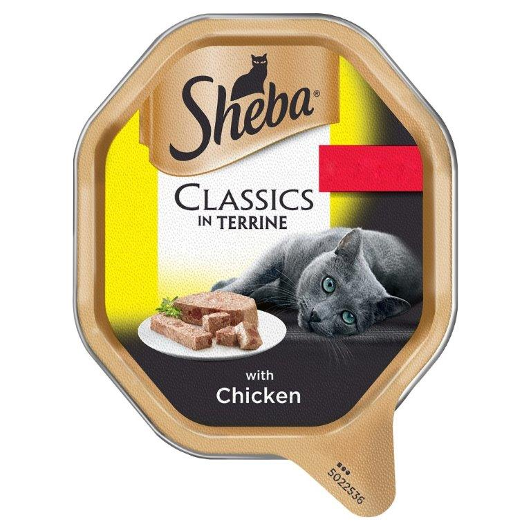 Sheba Classics Cat Tray With Chicken In Terrine 85g PM 2 For £1.20 (Kosher)