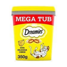 Dreamies Mega Tub With Cheese 350g