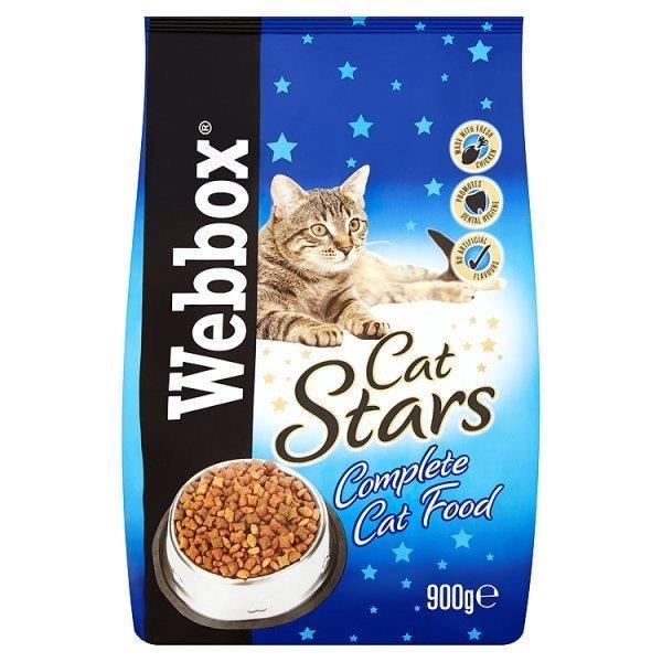 Webbox Cat Stars Dry Food 900g