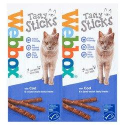 Webbox Cat Delight Sticks Cod 25 x 6's (6 x 5g)