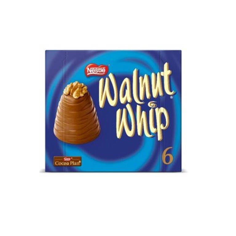 Walnut Whip Carton 6pk (6 x 30g)