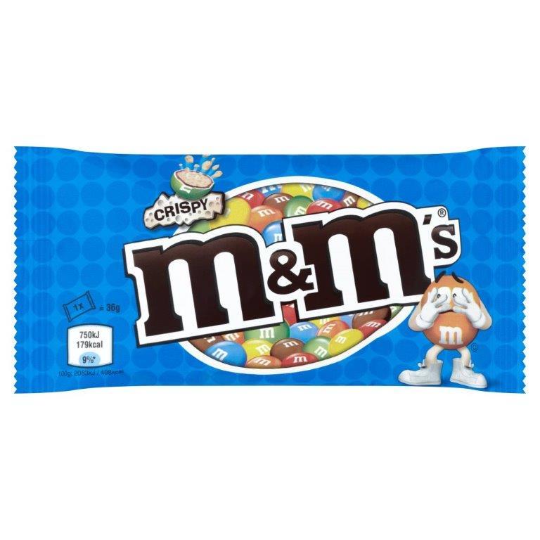 M&M's Std Bag Crispy 36g