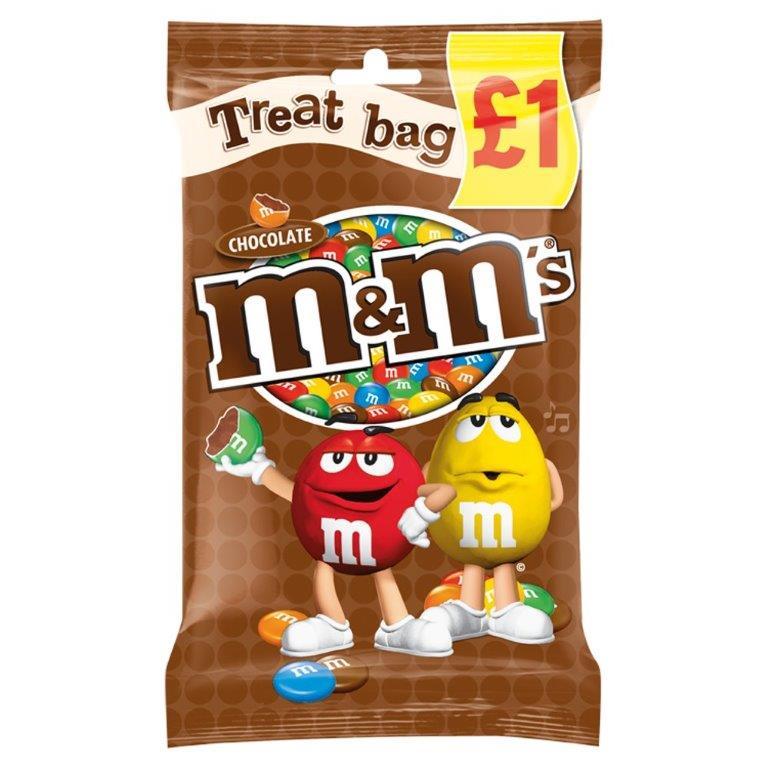 M&M's Treat Bag Chocolate 82g PM £1