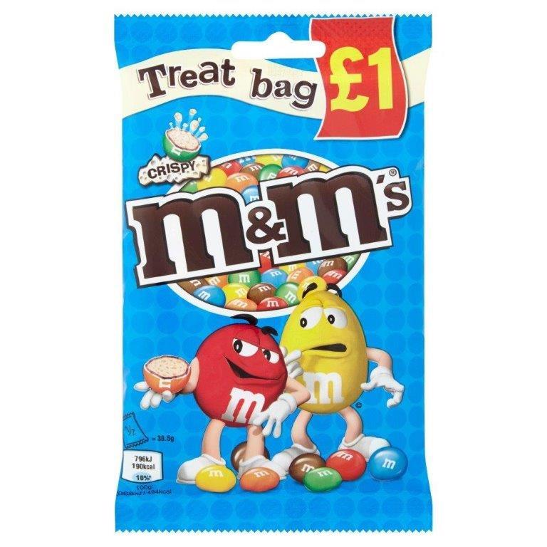 M&M's Treat Bag Crispy 77g PM £1
