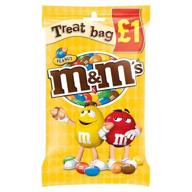 M&M's Treat Bag Peanut 82g PM £1