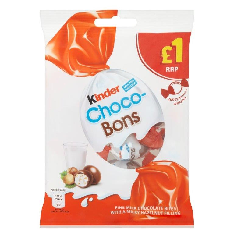 Kinder Choco Bons Bag PM £1