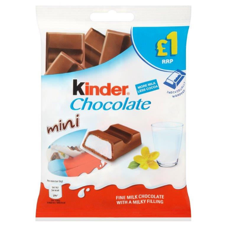 Kinder Mini Chocolate Bag 72g PM £1