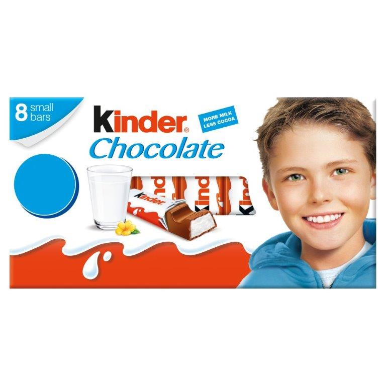 Kinder Chocolate T8 Treat Pack 100G PM £1