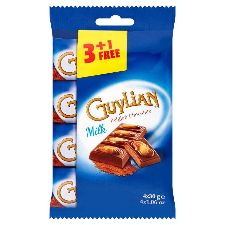 Guylian Seahorse Bar Milk Truffle 3 + 1 Free (4 x 30g)