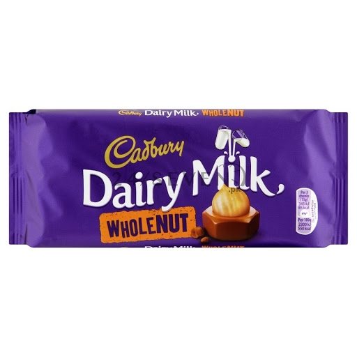 Cadbury Dairy Milk Whole Nut 200g (Export)