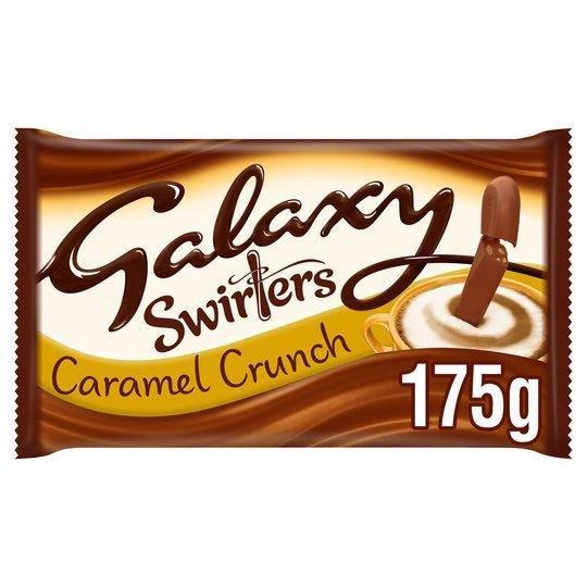 Galaxy Swirlers Caramel Crunch Block 175g