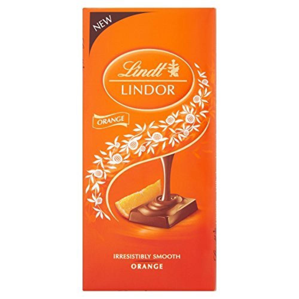 Lindt Lindor Milk Orange 100g